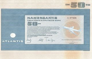 Atlantis Stock Certificate photo
