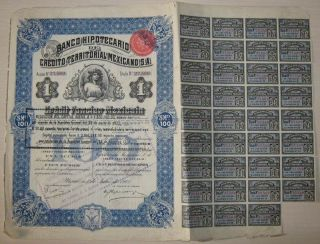 Mexico Banco Hipotecario De Credito Territorial Mexicano 1908 Queen Elizabeth photo