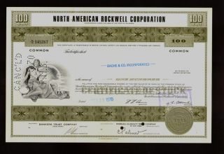 North American Rockwell (now Boeing) 1970s Issued To Broker Bache & Co photo