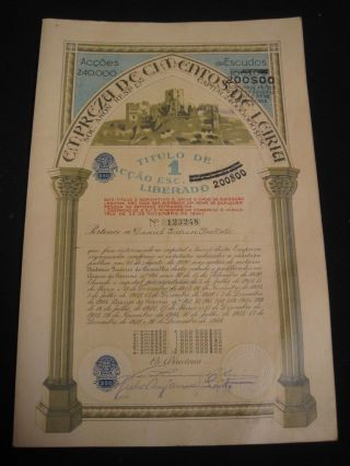 Cement Company Of Leiria - One Share Certified 1944 photo