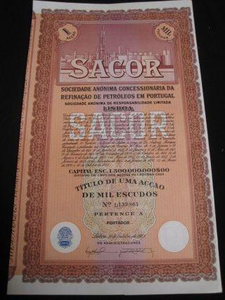 Sacor - One Share Certified 1973 photo