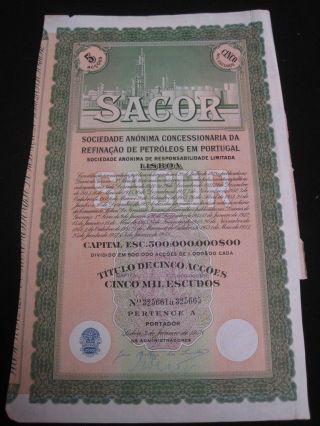 Sacor - Five Share Certified 1958 photo