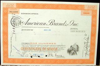American Brands Inc Certificate photo