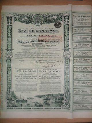 State Of The Amazon Bond 500fr Paris 1906 photo