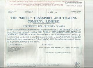 Uk British 1979 Famous Shell Petroleum Company Lloyds Bank 1472 Shares Bond Loan photo