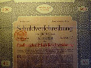 Schuldverfchreibung 4% Bond 1912….  Very Rare photo