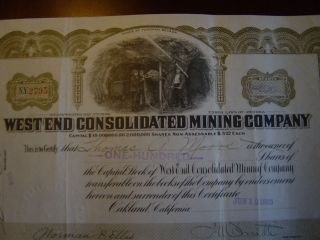 West End Consolidated Mining Company photo