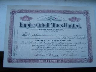 Empire Colbalt Mines,  Limited photo