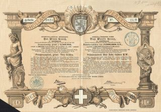 Holland White Cross Association Stock Certificate 1888 Rare photo