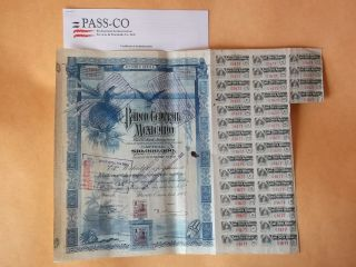 Banco Central $2500 1903 With Pass - Co Blueberry Bond photo