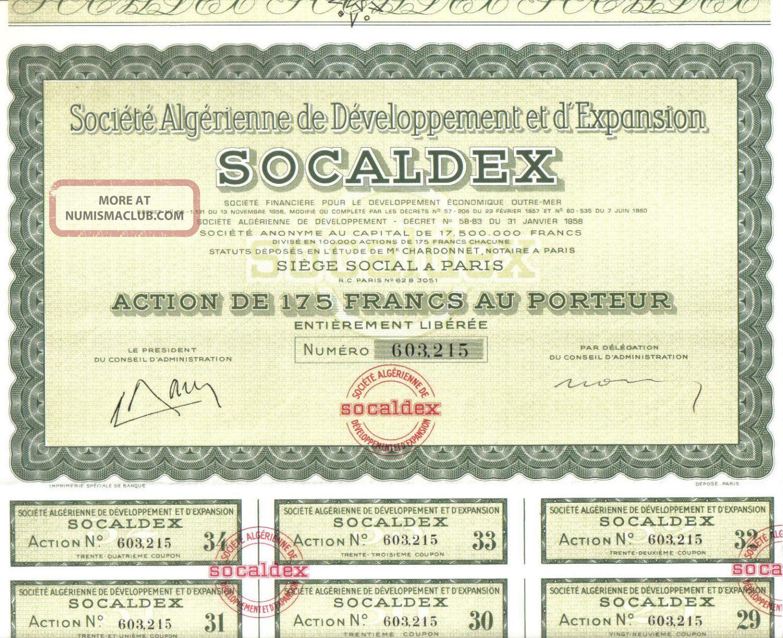 Africa Algeria 1958 Development Expansion Socaldex Co 175 Fr Uncancelled Coup World photo