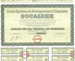 Africa Algeria 1958 Development Expansion Socaldex Co 175 Fr Uncancelled Coup photo