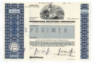 Specimen - International Multifoods Corporation photo