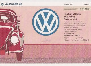 Vw Volkswagen Ag German Share Wolfsburg 1991 Beetle Golf Passat Germany Car photo