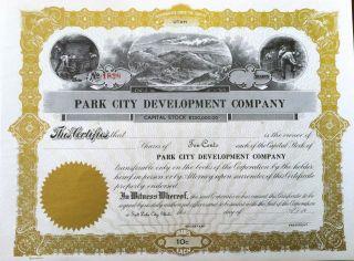 Park City Development Co.  Utah Hard Rock Miner Vignette photo