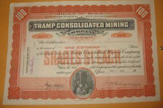 1908 Tramp Consolidated Mining Incorporated South Dakota Vignette Miners photo