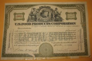1920 U.  S.  Food Products Corporation 20 Shares Of Stock Vignette Of 2 Ladies Nj photo