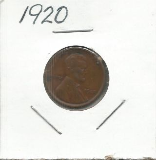 1920 Lincoln Wheat Cent photo