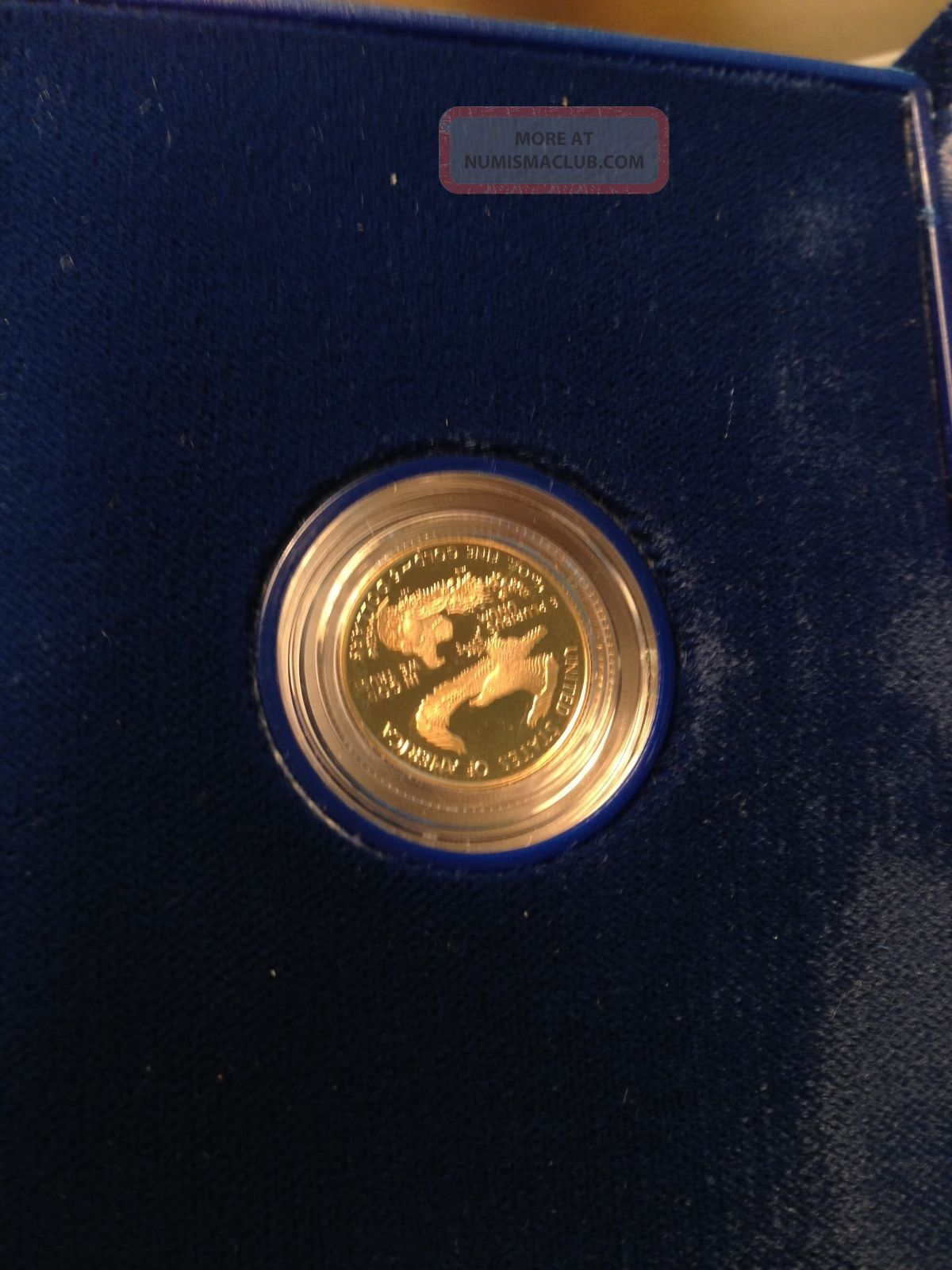 American Eagle One Tenth Ounce Proof Gold Bullion Five Dollar Coin 1996