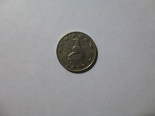 Old Zimbabwe Coin - 1997 20 Cents - Circulated photo
