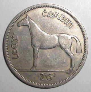 1964 Ireland Half Crown,  Horse,  Stallion,  Colt,  Animal Wildlife Coin photo
