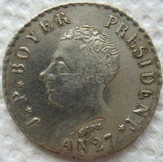 1830 (an27) Haiti 50 Centimes photo