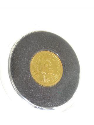 2008 Palau Sitting Bull $1.  999 Gold Coin photo
