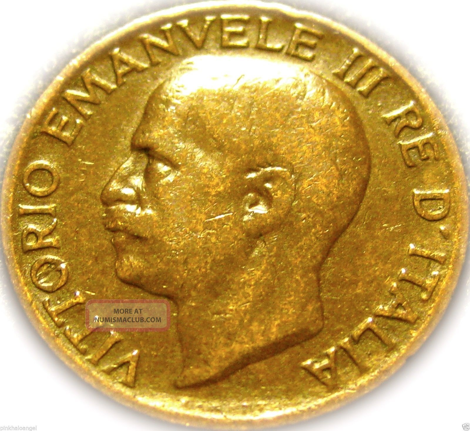 Kingdom Of Italy - Italian 1920r 5 Centesimi Coin - Great Wheat Coin