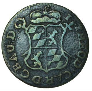 Belgiun Liege 1 Liard,  1751 Coin photo
