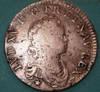 1716 France ½ (demi) Ecu Reformation Coin Amiens With Heart photo