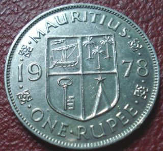 1978 Mauritius 1 Rupee In Ef photo