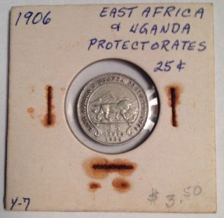1906 East Africa/uganda Protectorates 25 Cents Rare photo