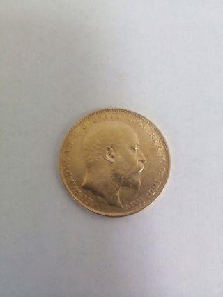 1908 British Sovereign Gold Coin - King Edward Vii photo