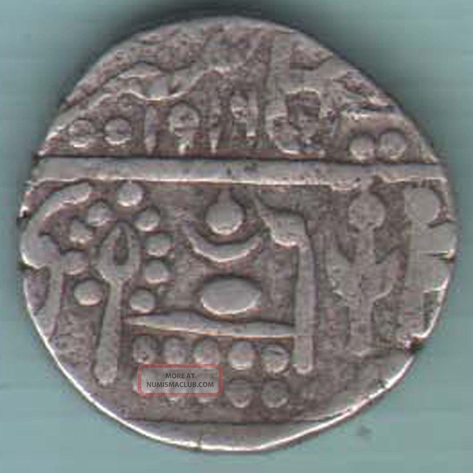Bikaner State - 1916 - One Rupee - Ex - Rare Silver Coin U - 54 India photo