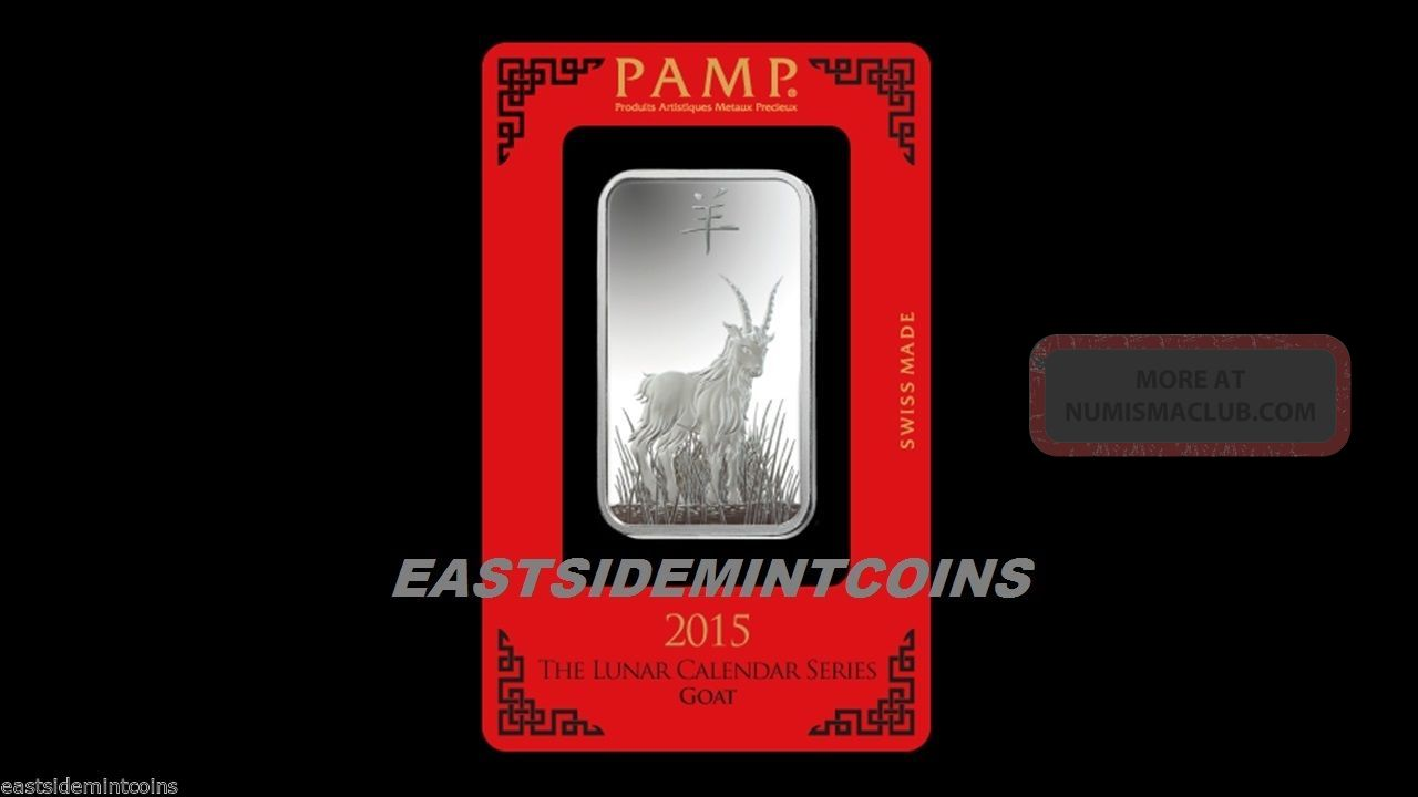 Pamp Suisse Lunar Year Of The Goat 1 Oz Silver Bar 999 W