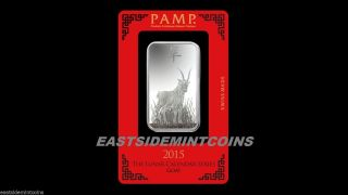 Pamp Suisse Lunar Year Of The Goat 1 Oz Silver Bar.  999 W/assay Card Instock 3 photo