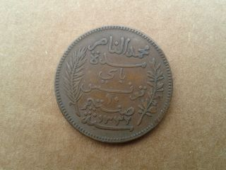 Tunisia 1914 Coin 10 Centimes,  French Protectorate,  Ahmad Pasha Bey North Africa photo