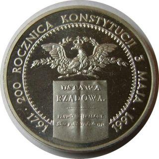 COMMEMORATIVE SILVER 10 ZLOTY COIN POLAND GENERAL STANISLAW MACZEK MINT Ag
