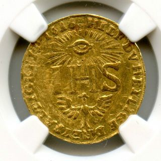 1616 Ihs Germany Ducat Saxony Fr - 2642 Restrike Ngc Au Details Hucky photo