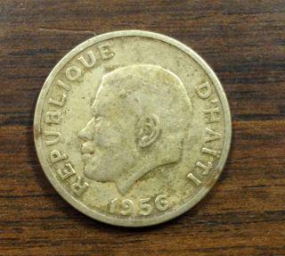 Haiti Ungraded 20 Centimes Coin,  1956 photo