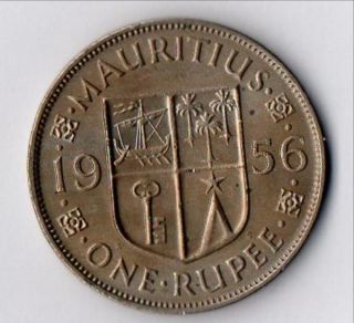Uncirculated One Rupee,  1956 photo