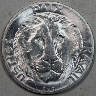 1965 Lion Congo Bu 10 Francs Large Congo Coin photo