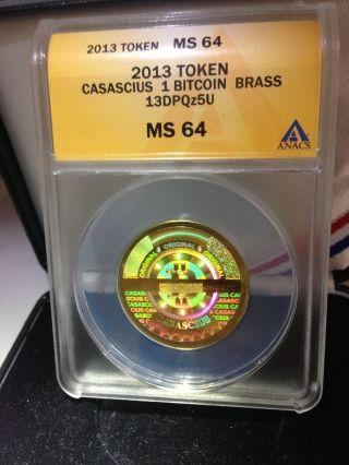 Casascius 1 Btc Ms - 64 2013 Bit Coin Physical Loaded (, Lealana,  Titan) photo