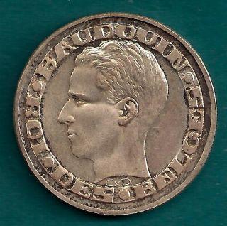 Belgium 50 Francs (frank) 1958.  8350 Silver Net.  3356 Oz.  Asw World ' S Fair Coin photo
