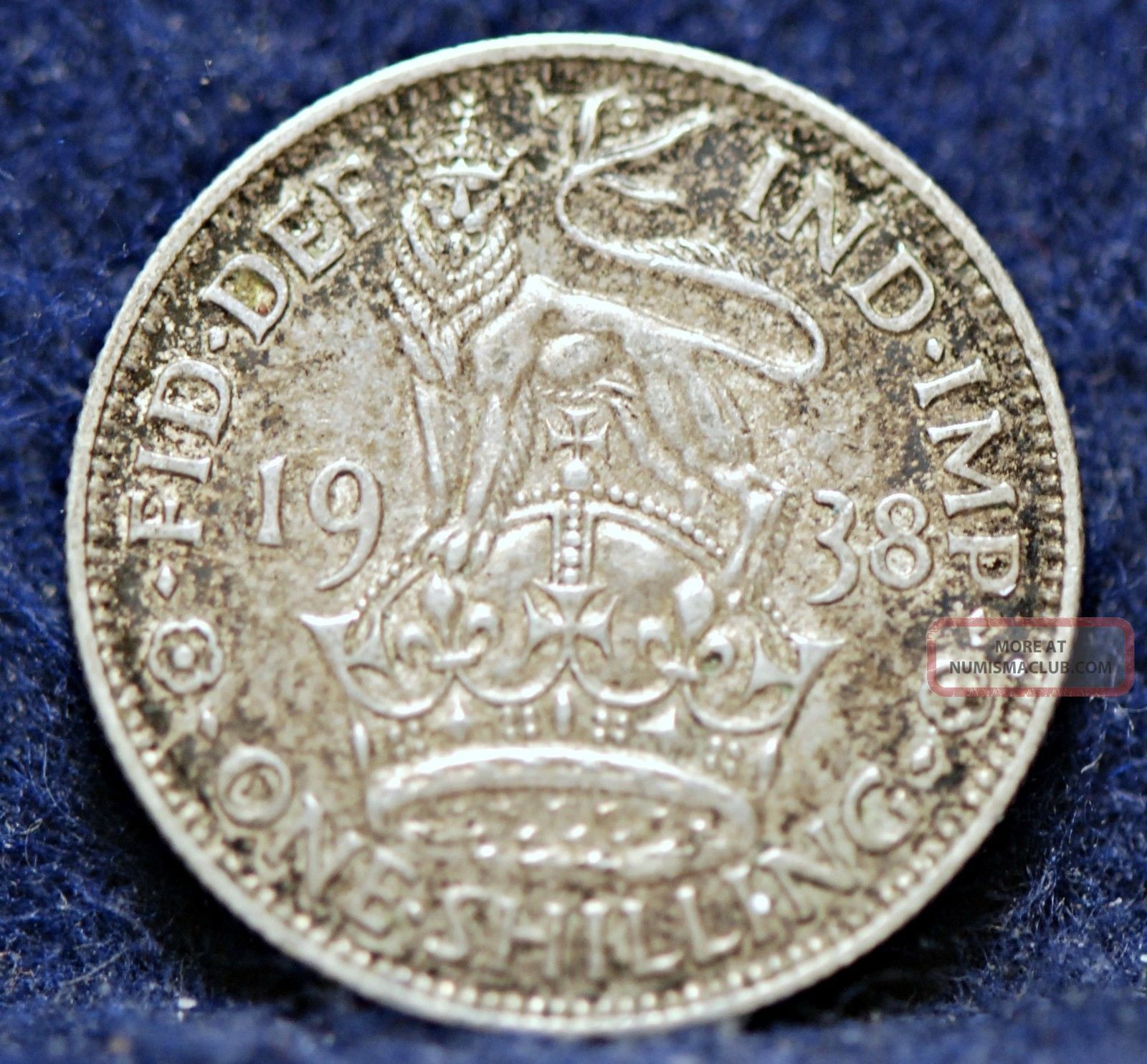 Great Britain,  1938 Shilling,  Silver,  Extremely Fine UK (Great Britain) photo