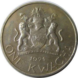 Elf Malawi 1 Kwacha 1971 Conversion To Decimal Currency photo