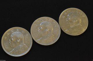 3 China Silver Dollar Coin Yuan Shih Kai photo