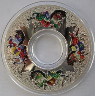 2014 Tokelau Carousel Of Horses Coin - 2 Oz Silver.  999 $10 Bullion photo