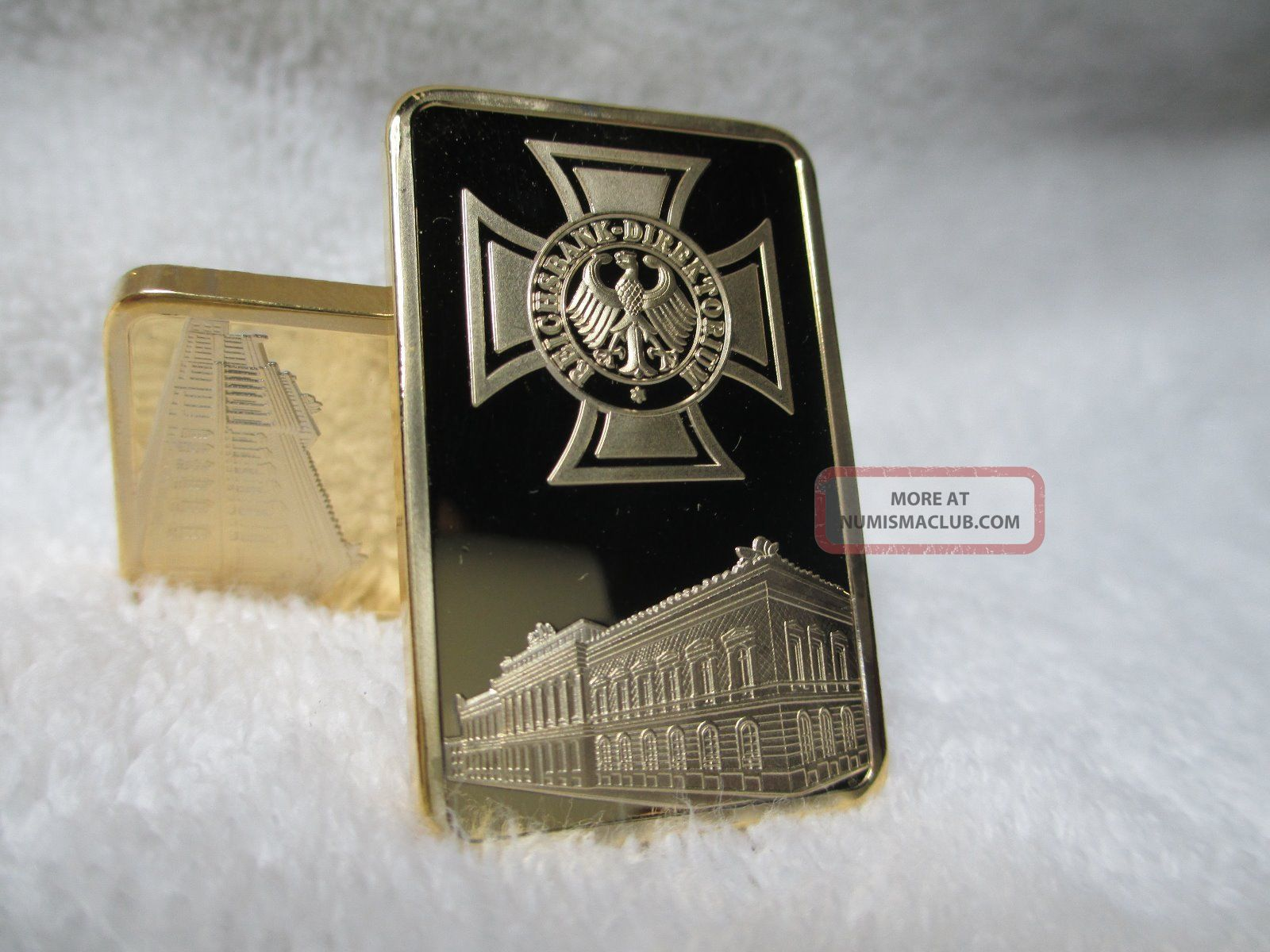 1 Oz Gold Layered Post Nazi Iron Cross German Central Bank