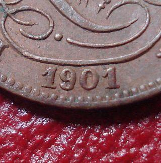 1901/1899 Belgium 1 Centime In Ef - Au photo